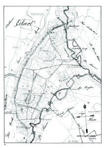 De Doode (thans Oude) Gracht links en de Dommel vormen de grenzen van de oude Heerlijkheid Eckart. Nu Oude Gracht Oost en De Luytelaer.